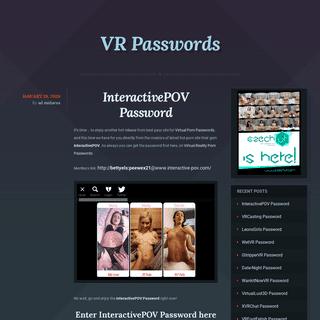 VR Passwords- Virtual Reality Porn - Virtual Reality Porn Passwords - Virtual Reality Passwords - VRPasswords.com