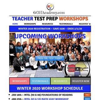 GOHacademy Teacher Workshops and Test Preparation