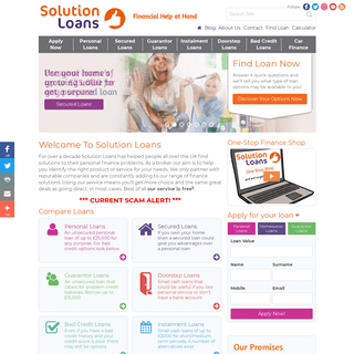Solution Loans- Find the Loans, Finance & Credit You Need