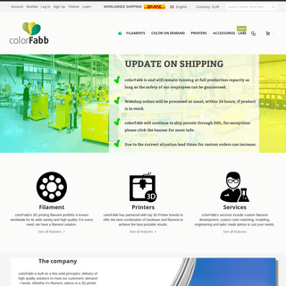 ColorFabb - colorFabb Online Store - 3D Printing Filament