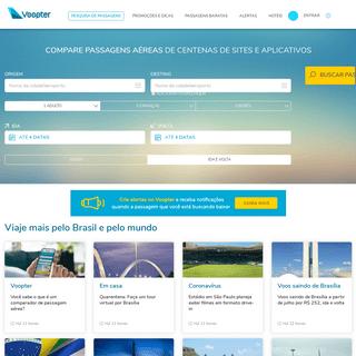 Passagens aéreas baratas - Buscador gratuito • Voopter