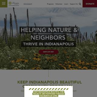 Keep Indianapolis Beautiful, Inc. - Home