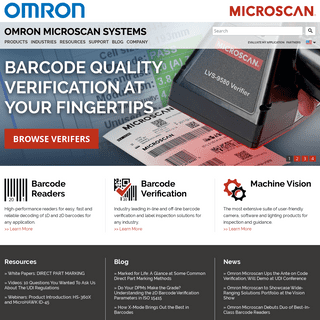Omron Microscan - Industrial Automation Solutions - Barcode Reading, Barcode Verification & Machine Vision Systems