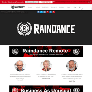 Raindance - Homepage - The Home of Independent Film