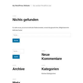 My WordPress Website - Just another WordPress site