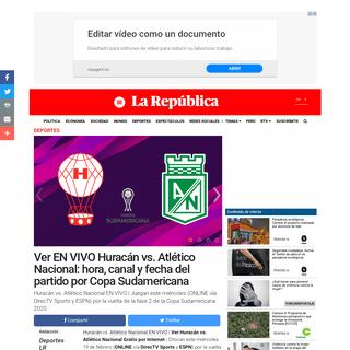 DirecTV Sports EN VIVO - Huracán vs Atlético Nacional ONLINE GRATIS ESPN EN VIVO Ver Copa Sudamericana 2020 cuándo juega el A