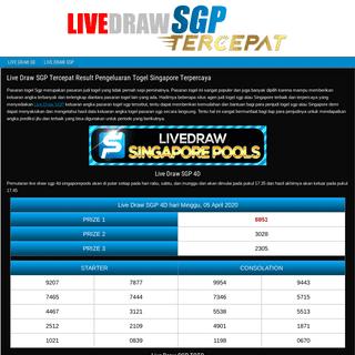 Live Draw SGP Tercepat Result Pengeluaran Togel Singapore Terpercaya