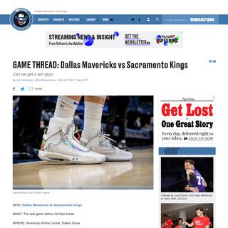 ArchiveBay.com - www.mavsmoneyball.com/2020/2/12/21135599/game-thread-dallas-mavericks-vs-sacramento-kings - GAME THREAD- Dallas Mavericks vs Sacramento Kings - Mavs Moneyball