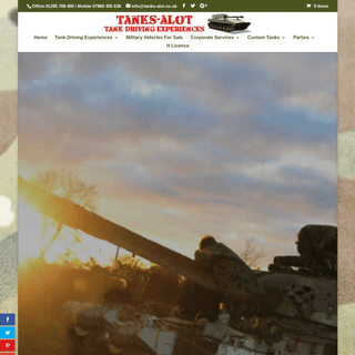 Tank Driving Experiences For The Full Day & Tank Hire (Media)