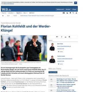 Werder Bremen- Trainer-Wechsel- Florian Kohfeldt und Bremer Klüngel! - Fußball