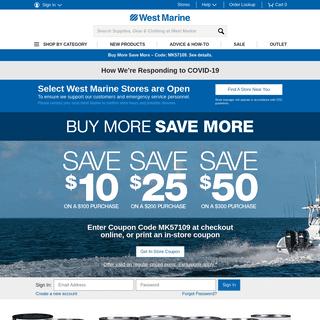 ArchiveBay.com - westmarine.com - Boat Parts, Sailing, Kayaks, Paddleboards and Marine Electronics - West Marine