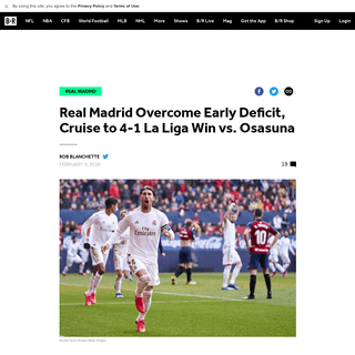 Real Madrid Overcome Early Deficit, Cruise to 4-1 La Liga Win vs. Osasuna - Bleacher Report - Latest News, Videos and Highlights