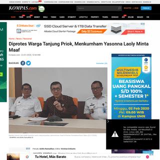Diprotes Warga Tanjung Priok, Menkumham Yasonna Laoly Minta Maaf Halaman all - Kompas.com
