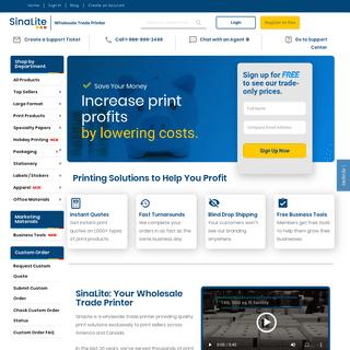 SinaLite - Wholesale Trade Printer - USA