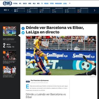 Dónde ver Barcelona vs Eibar, LaLiga en directo