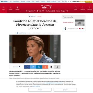 Sandrine Quétier héroïne de Meurtres dans le Jura sur France 3