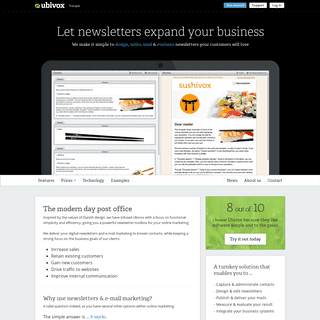 Newsletter software for email marketing - Ubivox