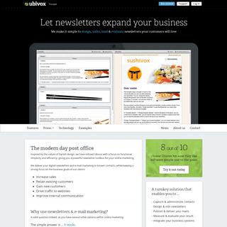ArchiveBay.com - ubivox.com - Newsletter software for email marketing - Ubivox