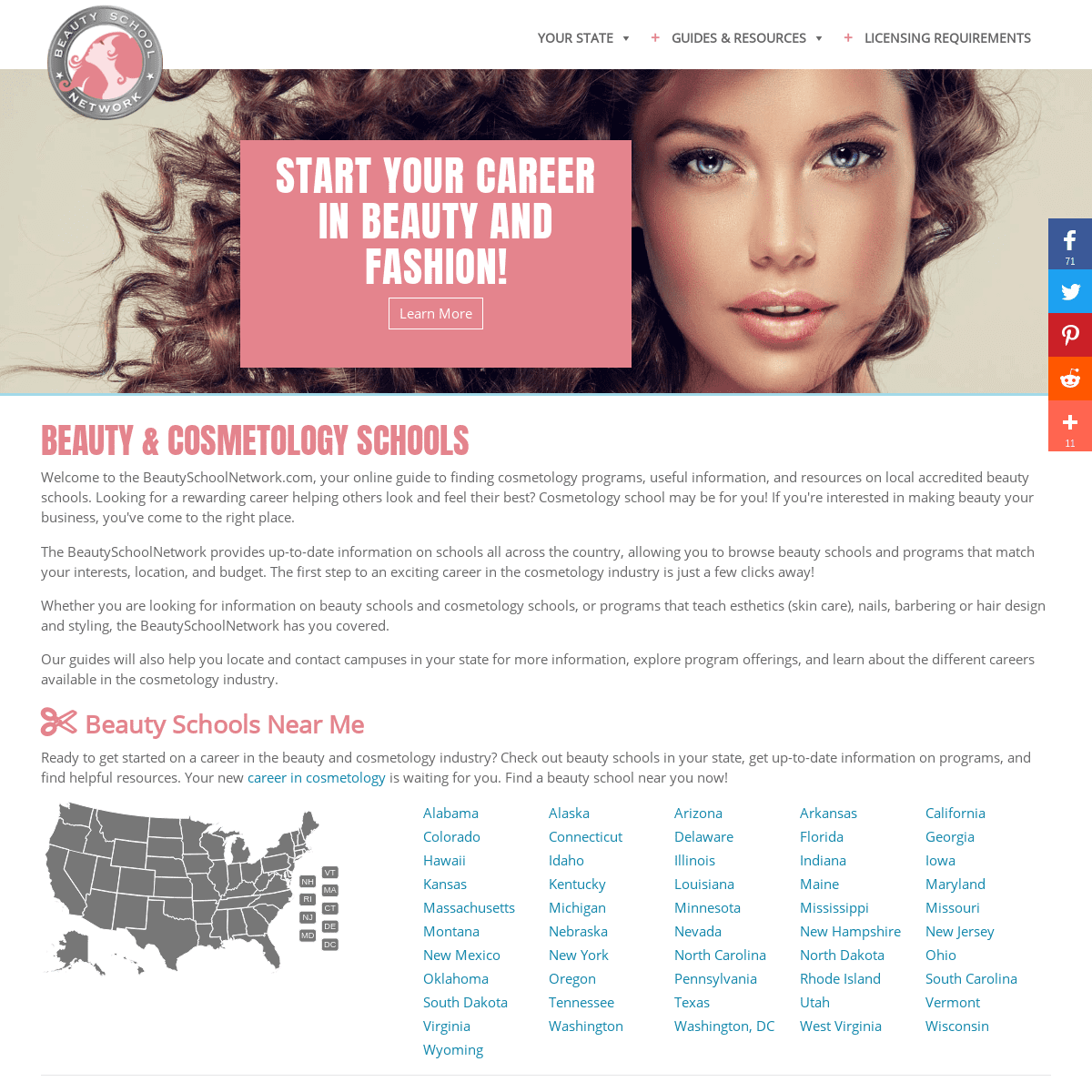 Beauty Schools & Cosmetology Licensing - BeautySchoolNetwork.com