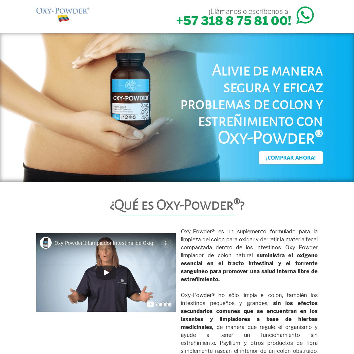 Estreñimiento - Oxy Powder Colombia Estreñimiento Colon Irritable Limpiador Colon