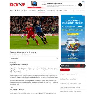 European football wrap- Bayern Munich take control in Bundesliga title