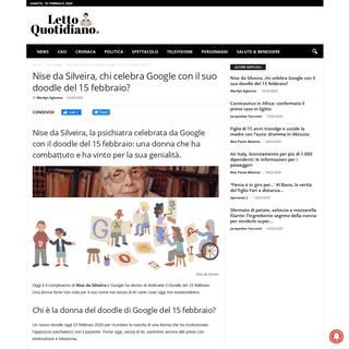 ArchiveBay.com - www.lettoquotidiano.it/nise-da-silveira-google-doodle-15-febbraio/44463/ - Nise da Silveira, chi celebra Google con il suo doodle del 15 febbraio-