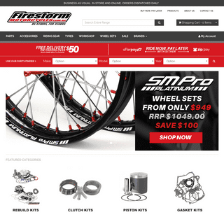 Motorcycle Parts, Riding Gear and Accessories Shipped Australia Wide - Firestorm Motorcycles