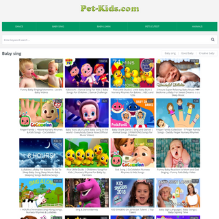 Video for kids Pet-Kids.Com
