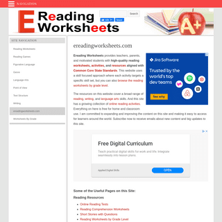 Ereading Worksheets - Free Reading Activities & Resources