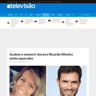 Acabou o namoro! Aurea e Ricardo Oliveira estão separados – A Televisão