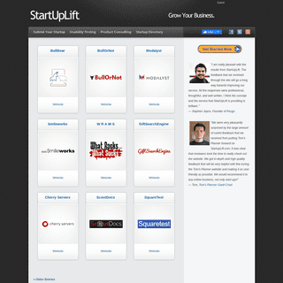 StartUpLift - Submit Your Startup. Get Featured. Get Feedback.