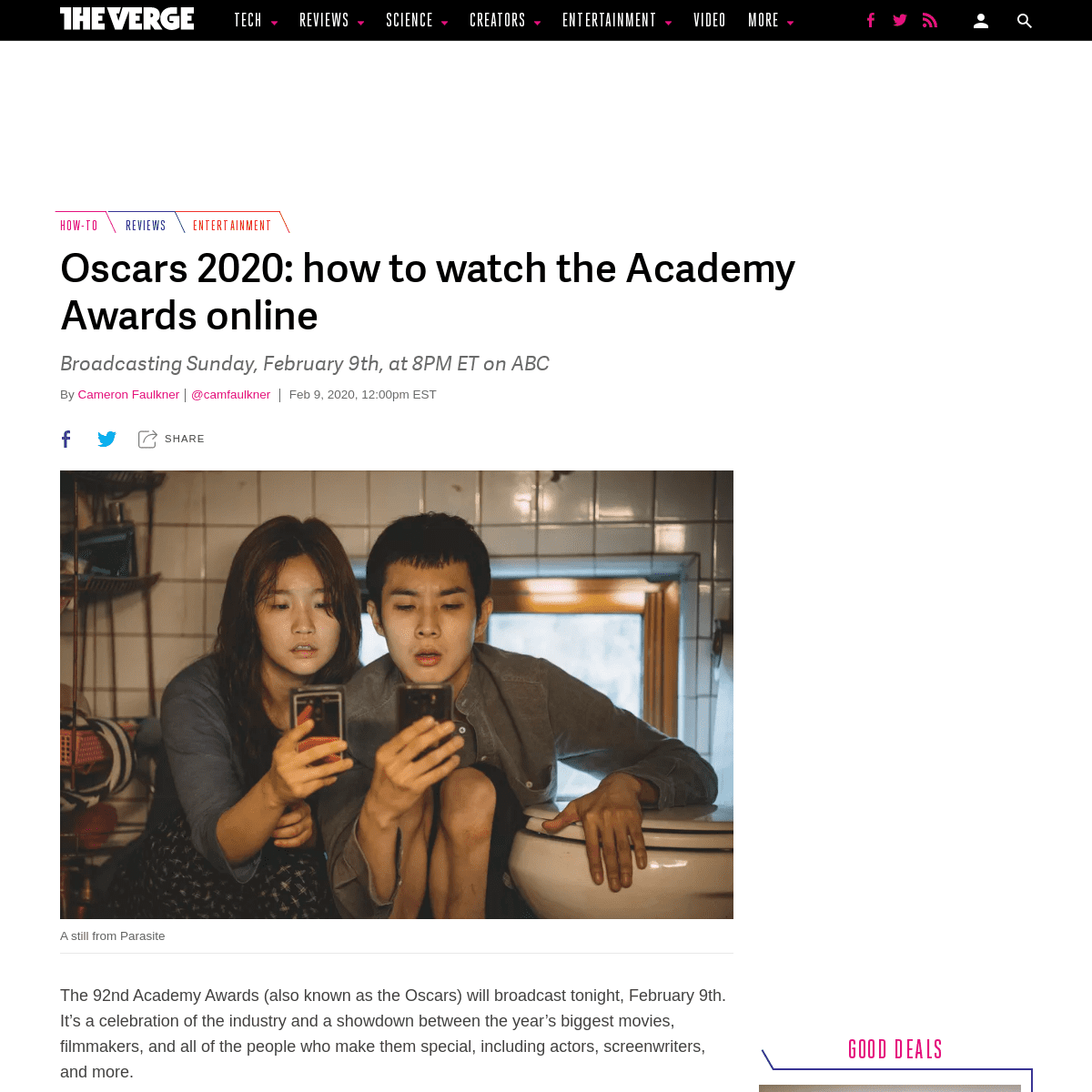 Oscars 2020- how to live stream the Academy Awards online - The Verge