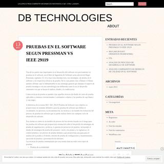 DB Technologies - Un espacio para compartir informacion referente a .Net, HTML 5,JQuery…