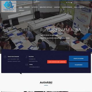Fundația PAEM ALBA – Consultanta.Consiliere si instruire profesionala. Sala conferinte in Alba Iulia Intermedieri pentru obti
