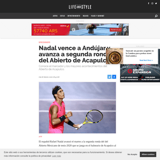Nadal vence a Andújar y avanza a segunda ronda del Abierto de Acapulco
