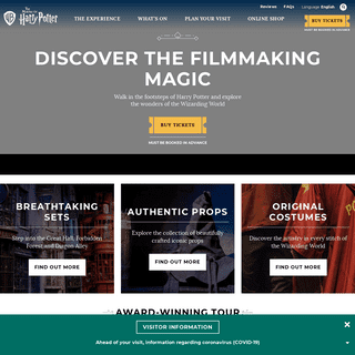 Warner Bros. Studio Tour London - The Making of Harry Potter - Official Site