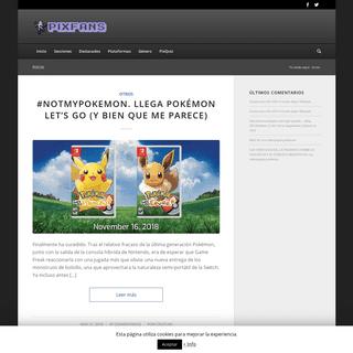 PixFans – Blog alternativo de videojuegos, gadgets, películas, series, cómics y un largo etcétera