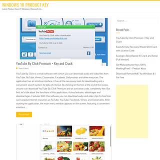Windows 10 Product Key - Latest Product Keys Of Windows, Microsoft etc..,