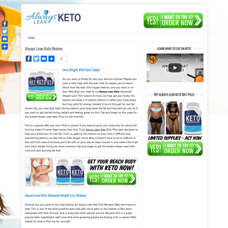 Always Lean Keto Pills - Quit The Diet And Find REAL Success! - Review