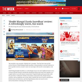 'Shubh Mangal Zyada Saavdhan' review- A refreshingly warm, fun watch - The Week