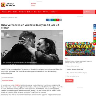 Rico Verhoeven en vriendin Jacky na 13 jaar uit elkaar - Omroep Brabant