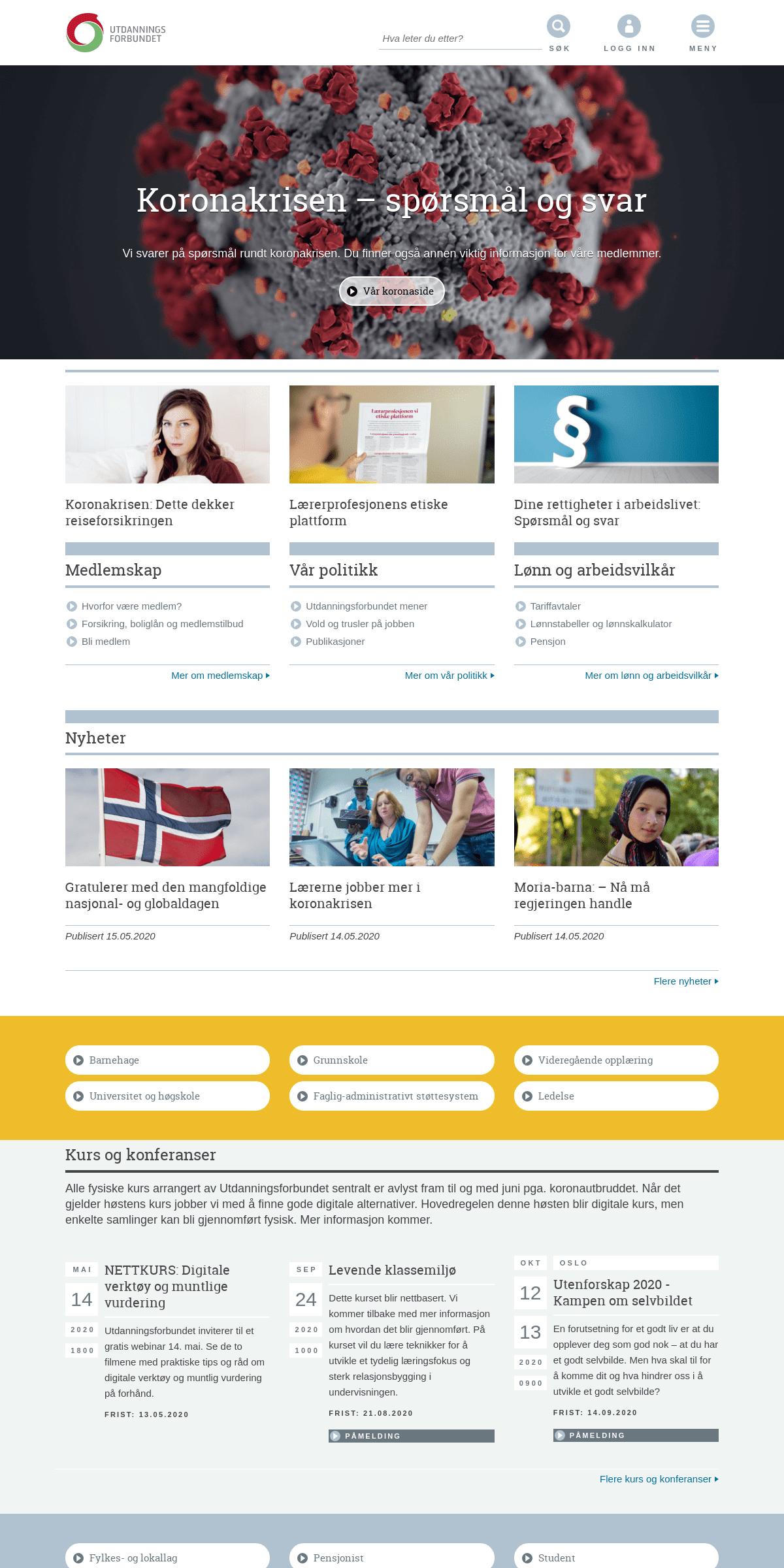 Utdanningsforbundet – Norges største fagforening for hele utdanningssystemet
