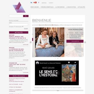 Bienvenue - René Girard - Association Recherches Mimétiques