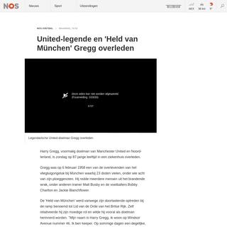 ArchiveBay.com - nos.nl/l/2323437 - United-legende en 'Held van München' Gregg overleden - NOS