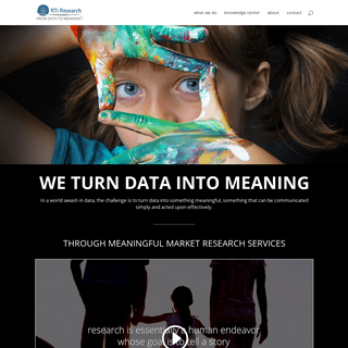 RTi Research - MARKET RESEARCH FROM DATA TO MEANING -