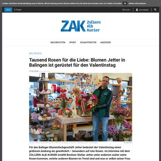 Tausend Rosen für die Liebe- Blumen Jetter in Balingen ist gerüstet für den Valentinstag
