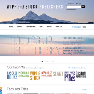 Home - Wipf and Stock Publishers