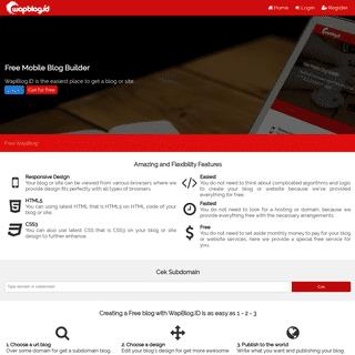 WapBlog.ID - Free Mobile Blog Builder
