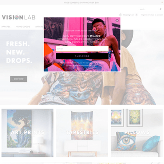 Vision Lab - Visionary Art Apparel and Goods
