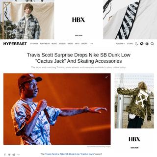 ArchiveBay.com - hypebeast.com/2020/2/travis-scott-nike-sb-dunk-low-cactus-jack-buy-online - Travis Scott Drops Suprise Nike SB Dunk -Cactus Jack- - HYPEBEAST